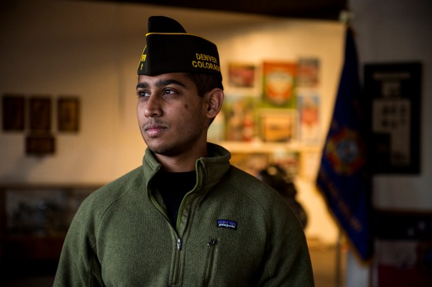 Karthik Venkatraj poses for a portrait before a meeting at VFW Post 1