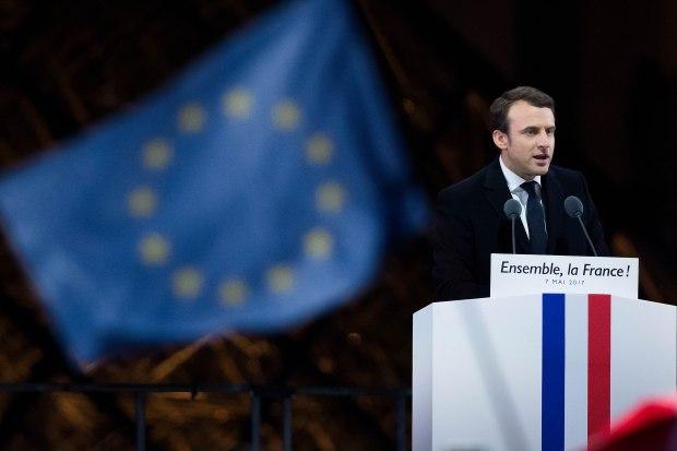 Leader of 'En Marche !' Emmanuel ...