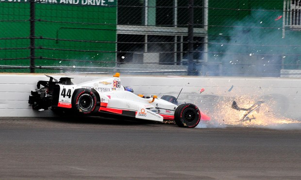 The car driven by Buddy Lazier ...