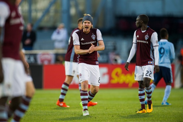 Dillon Powers (8) of Colorado Rapids ...