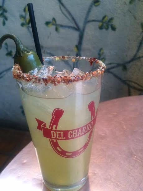 A margarita from Del Charro in Santa Fe. (Brittany Anas, Special to The Denver Post)