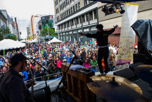 Low Cut Connie performs during Denver ...