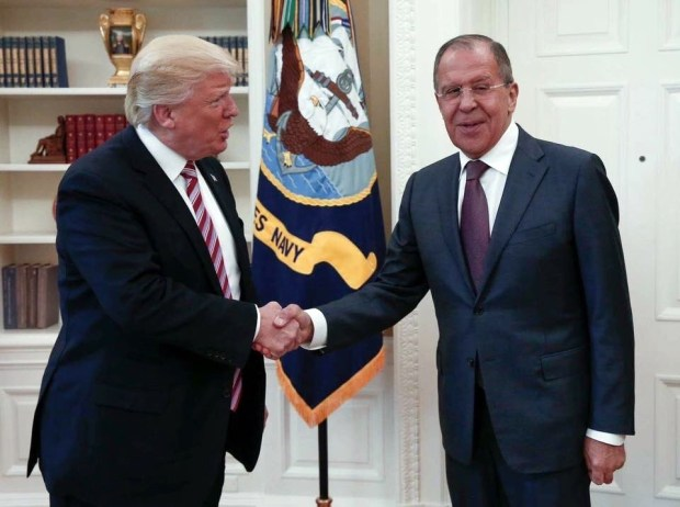 This handout photo released by the Russian Ministry of Foreign Affairs, shows President Donald Trump meeting with Russian Foreign Minister Sergey Lavrov in the Oval Office of the White House on May 10. According to The Washington Post, Trump revealed highly classified information about Islamic State militants to Russian officials during the meeting.