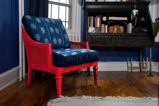 The blue chair was originally $40; ...