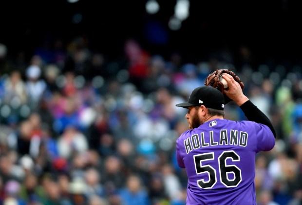 Colorado Rockies relief pitcher Greg Holland ...