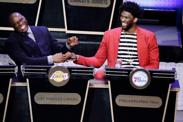 Magic Johnson, president of basketball operations ...