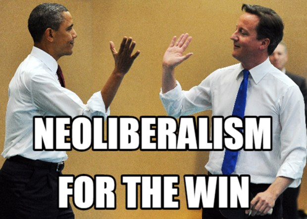 Neoliberalism is essentially the centrist economic framework embraced by U.S. presidents like Bill Clinton, George W. Bush and Barack Obama.