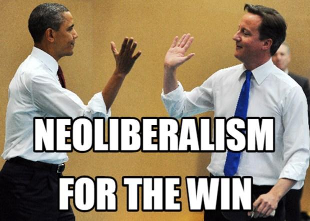 Neoliberalism is essentially the centrist economic framework embraced by U.S. presidents like Bill Clinton, George W. Bush and Barack Obama.