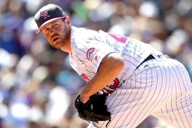 Pitcher Scott Oberg #45 of the ...
