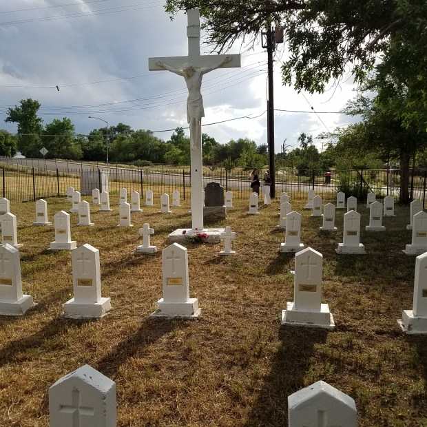 The cemetery at Colorado Heights University ...
