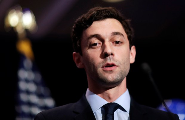 Democratic candidate for Georgia's 6th Congressional District Jon Ossoff concedes to Republican Karen Handel at his election-night party in Atlanta on Tuesday.