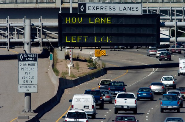 HOV lanes on Interstate 25 and U.S. 36 became HOV 3 lanes earlier this year.