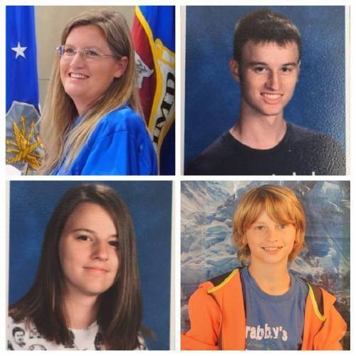 Heather White and her three children, Bruce, Megan and Scott White, were killed Friday on a Wyoming highway while en route to visit family in Montana.
