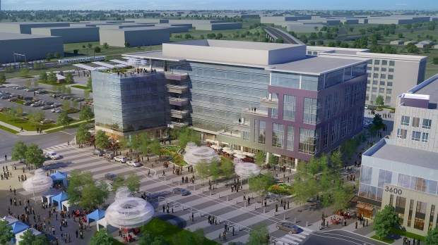Central Park Station One, a 190,000-square- foot Class AA mixed-use office building next to a large public plaza, is on schedule to break ground in spring 2018.