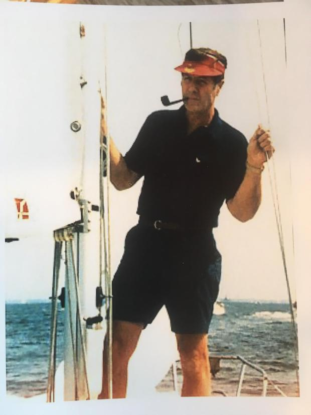 Ted Osius, on a sailboat in the Atlantic.