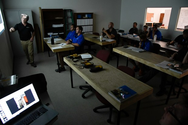 Students at the Colorado Homebuilding Academy ...