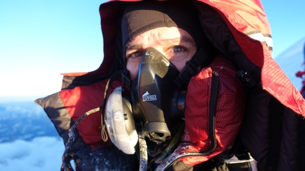 Fort Collins mountaineer Jim Davidson at Summit Ridge on Mount Everest. Summit Ridge is at 29,000 feet of elevation, 29 feet short of the summit.