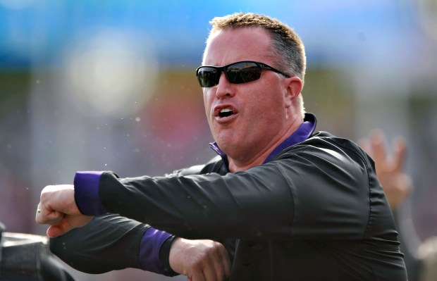 File photo, Northwestern head coach ...