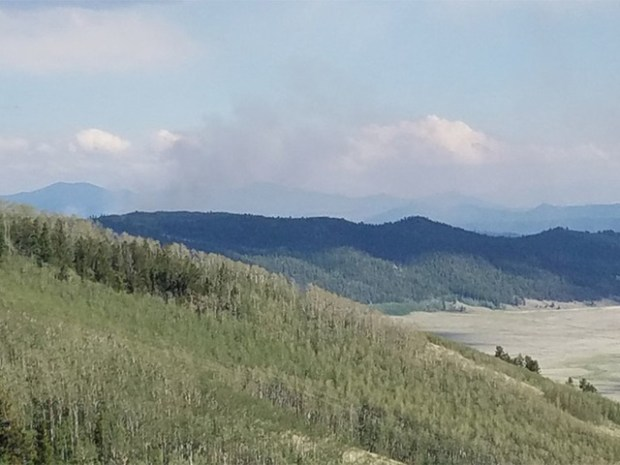 Campers have been evacuated as a wildfire continues to grow in Park County Saturday.