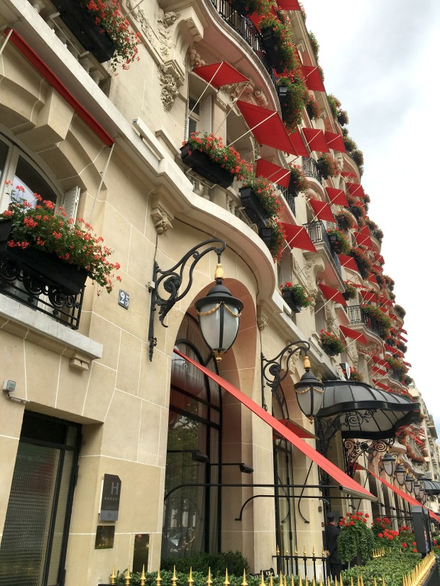 On the prestigious avenue Montaigne, the Hotel Plaza Athenee is a palace hotel featuring a Dior spa and a Michelin three-starred restaurant by Alain Ducasse.