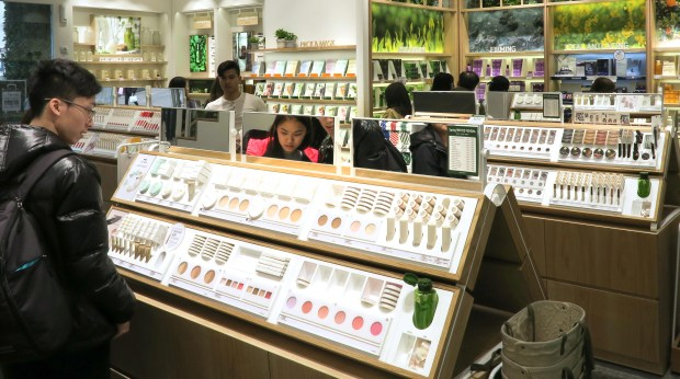 Inside InnesFree's flagship store in Seoul; InnesFree is one of the most popular South Korean skin care brands.