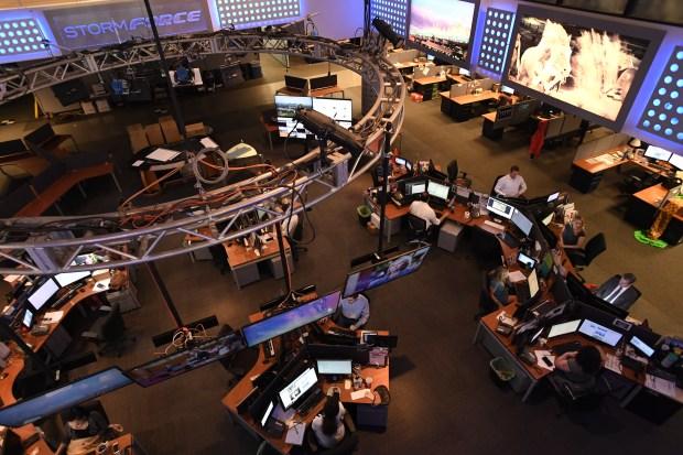 The newsroom at at Fox 31 ...