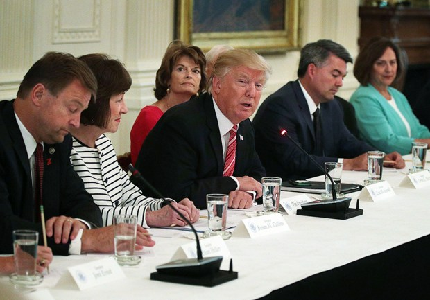 U.S. Sen Cory Gardner, second from right, attends a meeting on health care with President Donald Trump and various lawmakers on June 27 at the White House.