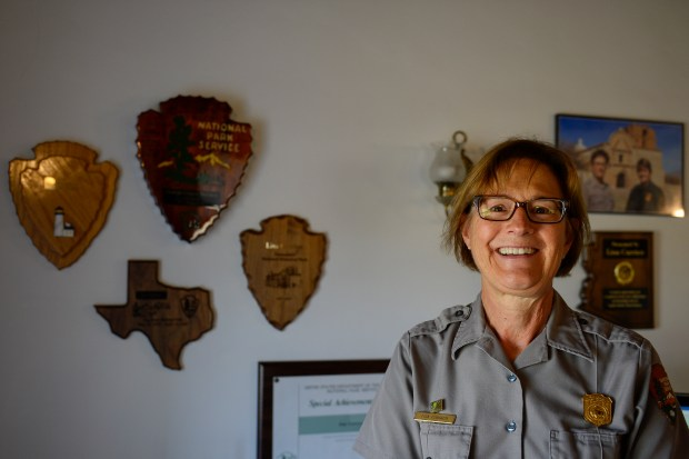 GREAT SAND DUNES NATIONAL PARK AND PRESERVE, CO - JULY 14: Park Superintendent Lisa Carrico is photographed in her office on July 14, 2016. (Photo by Michael Reaves/The Denver Post)