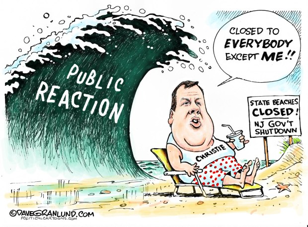 chris-christie-on-the-beach-cartoon-granlund