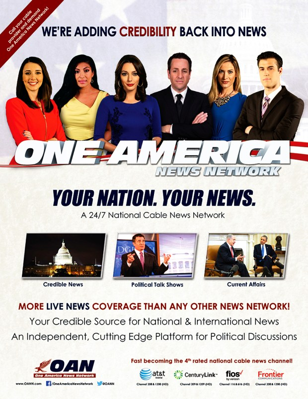 One America News is growing - in viewer numbers, in influence in Republican circles, and as a potential alternative to Fox News for conservatives and libertarians. MUST CREDIT: One America News Network