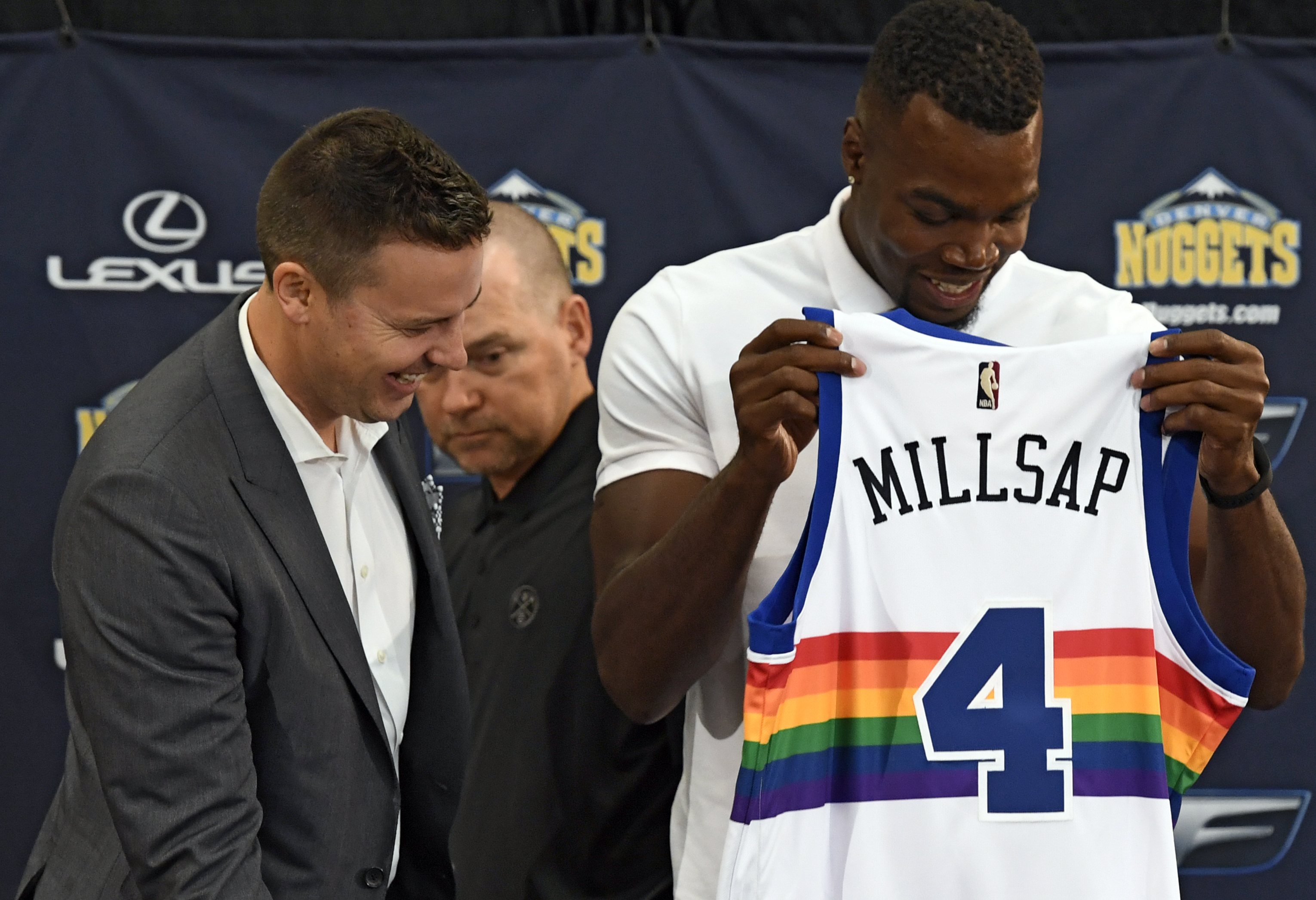 Image result for paul millsap nuggets