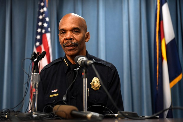 Denver Police Chief Robert White speaks to reporters on Sept. 13, 2016.