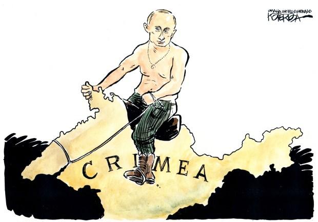 "Jeff Koterba cartoon for March 18, 2014""Putin Crimea Ukraine."""