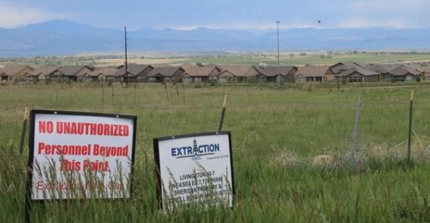 Homes in Broomfield's Anthem Ranch sit just north of the site of Extraction Oil and Gas, Inc.'s Lowell Pad.