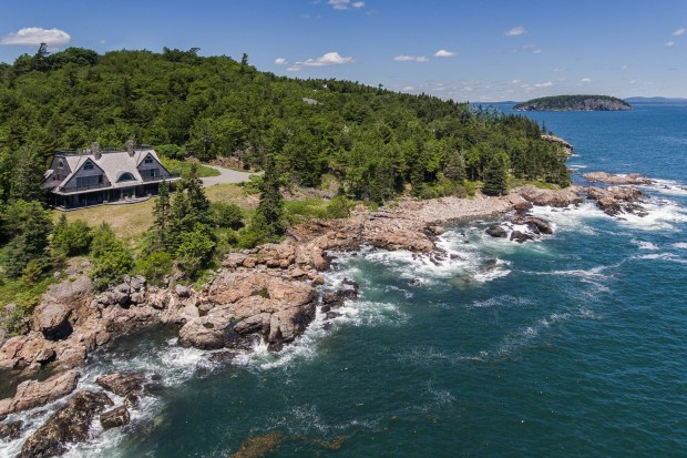 Acadia National Park: Built in 1990, the shingle-style cottage on the Maine coast has 623 feet of ocean frontage and spectacular views of Thrumcap Island and the Schoodic peninsula. It is listed at $4.1 million.