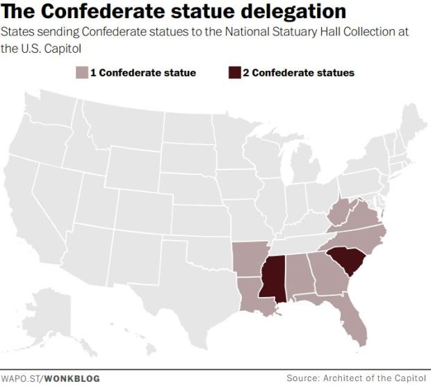 confederate statue delegation