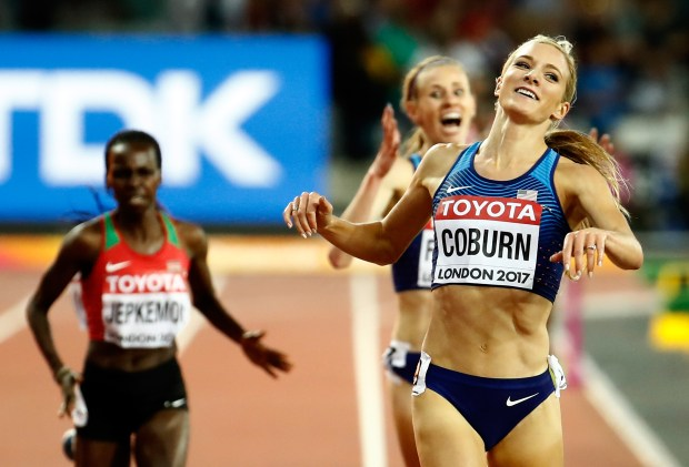 Emma Coburn of the United States, ...
