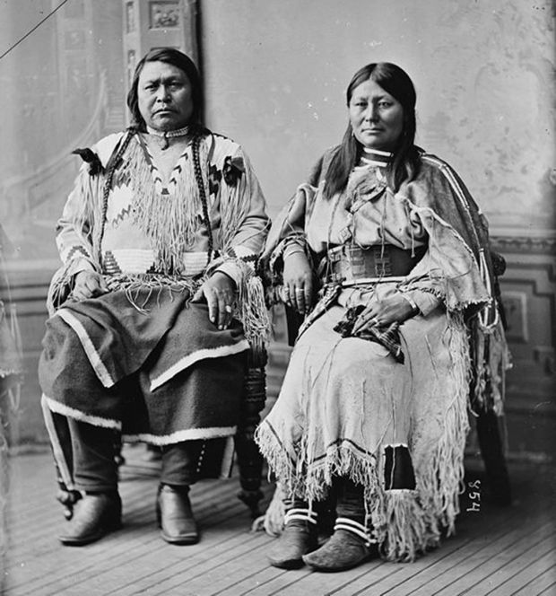 Chief Ouray and his wife Chipeta.