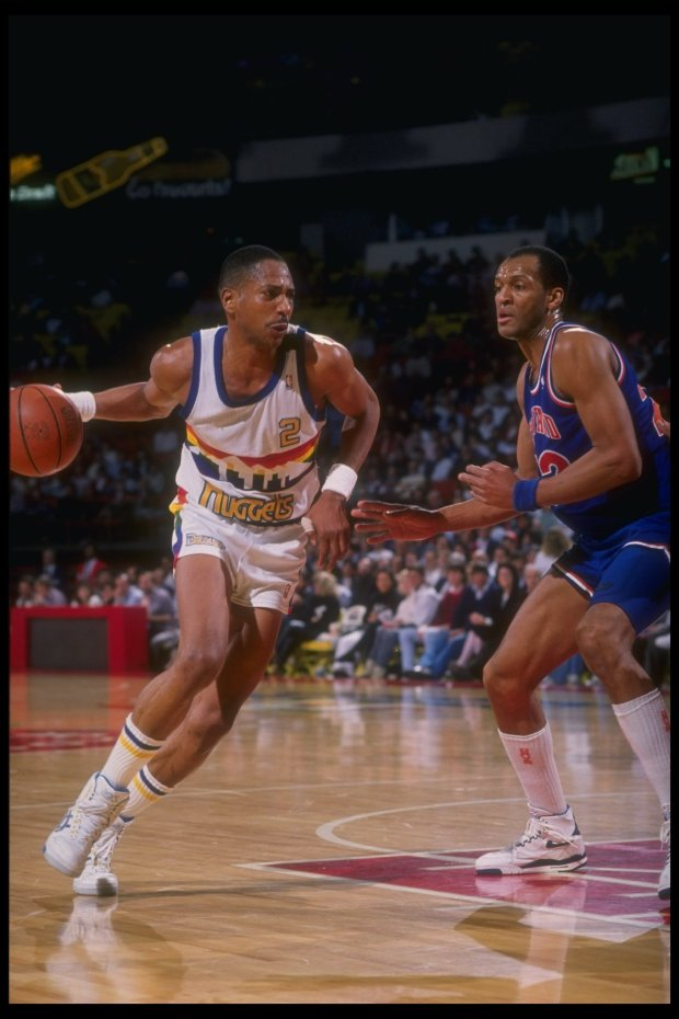 Guard Alex English of the Denver ...