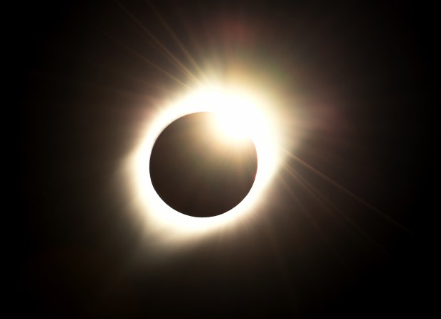 Monday's total solar eclipse, as seen from Alliance, Neb.