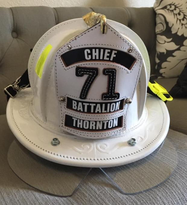Two firefighter helmets were stolen from a Thornton fire station and the contemptible thefts were realized on the morning of 9/11.