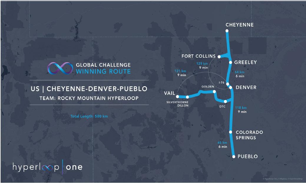 Hyperloop One picks Colorado as finalist will study feasibility