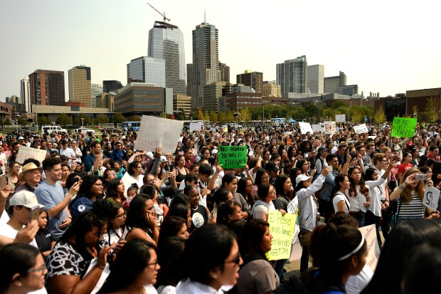 Students, immigrants and Impacted individuals marched ...