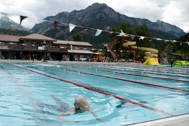 OURAY, CO - Maria Pohorecki swims ...