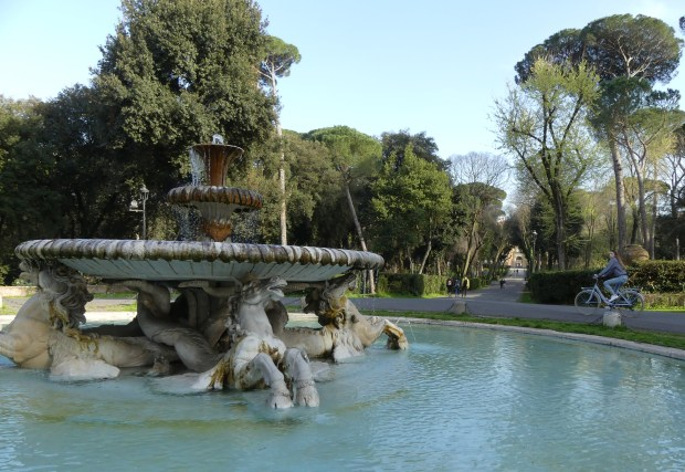 Romans flock to Villa Borghese gardens, a relatively tourist-free park with fountains, car-free roads and bicycles for rent.