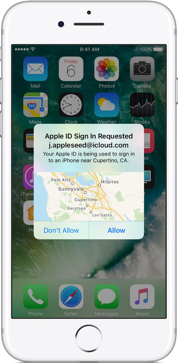 Apple's two-factor authentication tells users where the request is physically coming from.