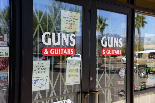 Stephen Paddock, who killed 58 people during the Oct. 1 mass shooting in Las Vegas, bought firearms at this gun shop in Mesquite, Nev.