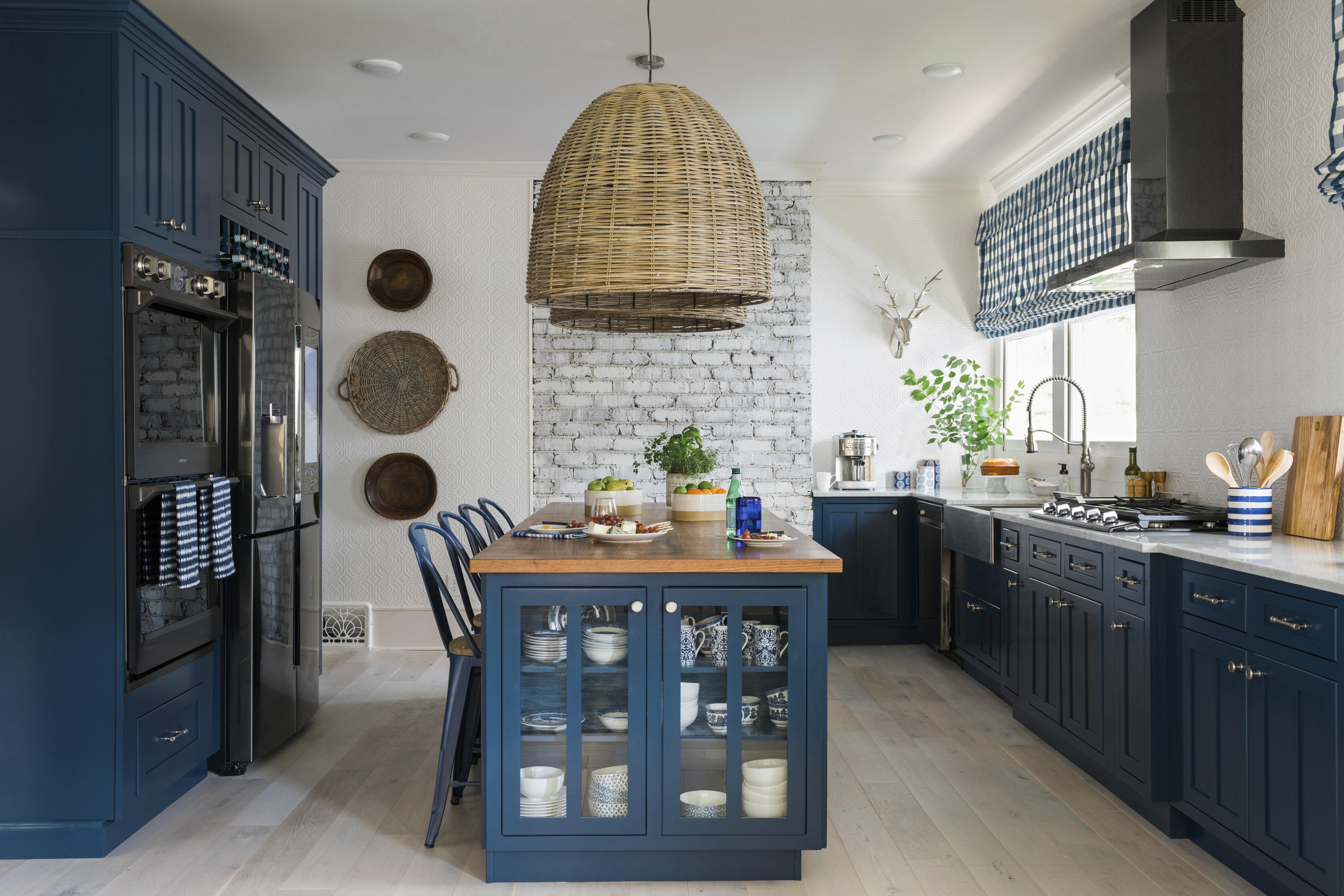 kitchen to go cabinets red backsplash being bold for color on