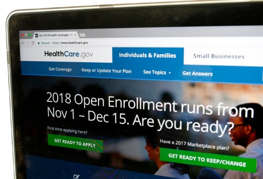 The Healthcare.gov website is seen on ...
