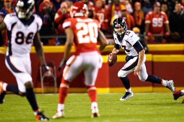 Denver Broncos quarterback Trevor Siemian #13 ...
